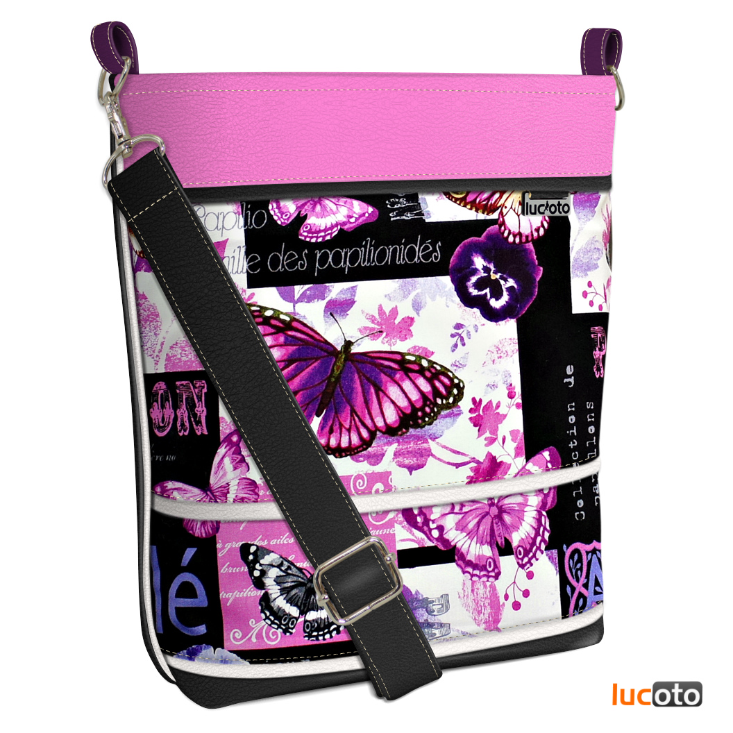 Sandra One Papillon black and pink