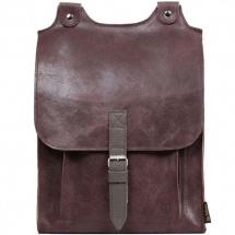 Kožený batoh hnědá s šedým řemínkem c0648e5b3c
