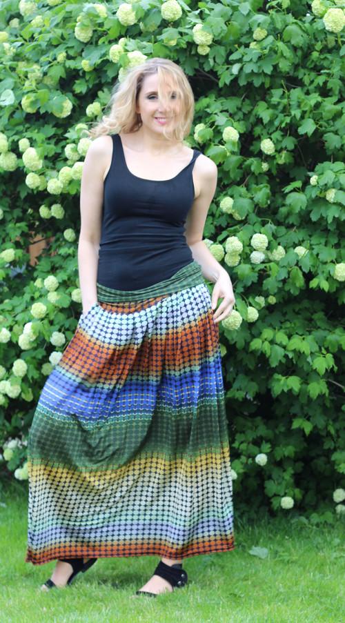 89e0431c69d Barevná pohodlná dlouhá sukně – Potvor - pomáhat tvořit