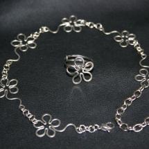 Nákotník + prsten na nohu - květy - chirurgická ocel 241a4e70d8f