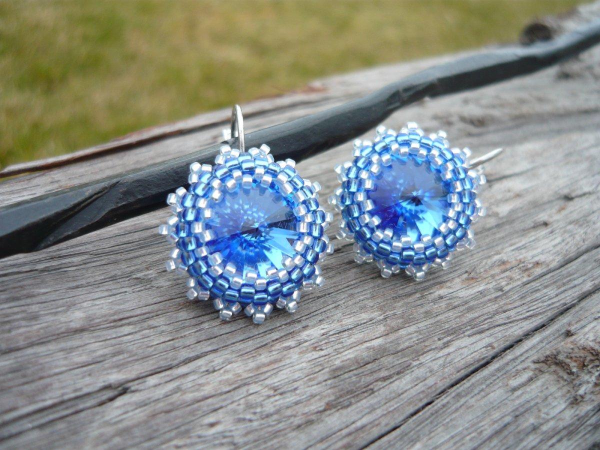Náušnice Nebesky modré...swarovski – Potvor - pomáhat tvořit 7894ee085d5
