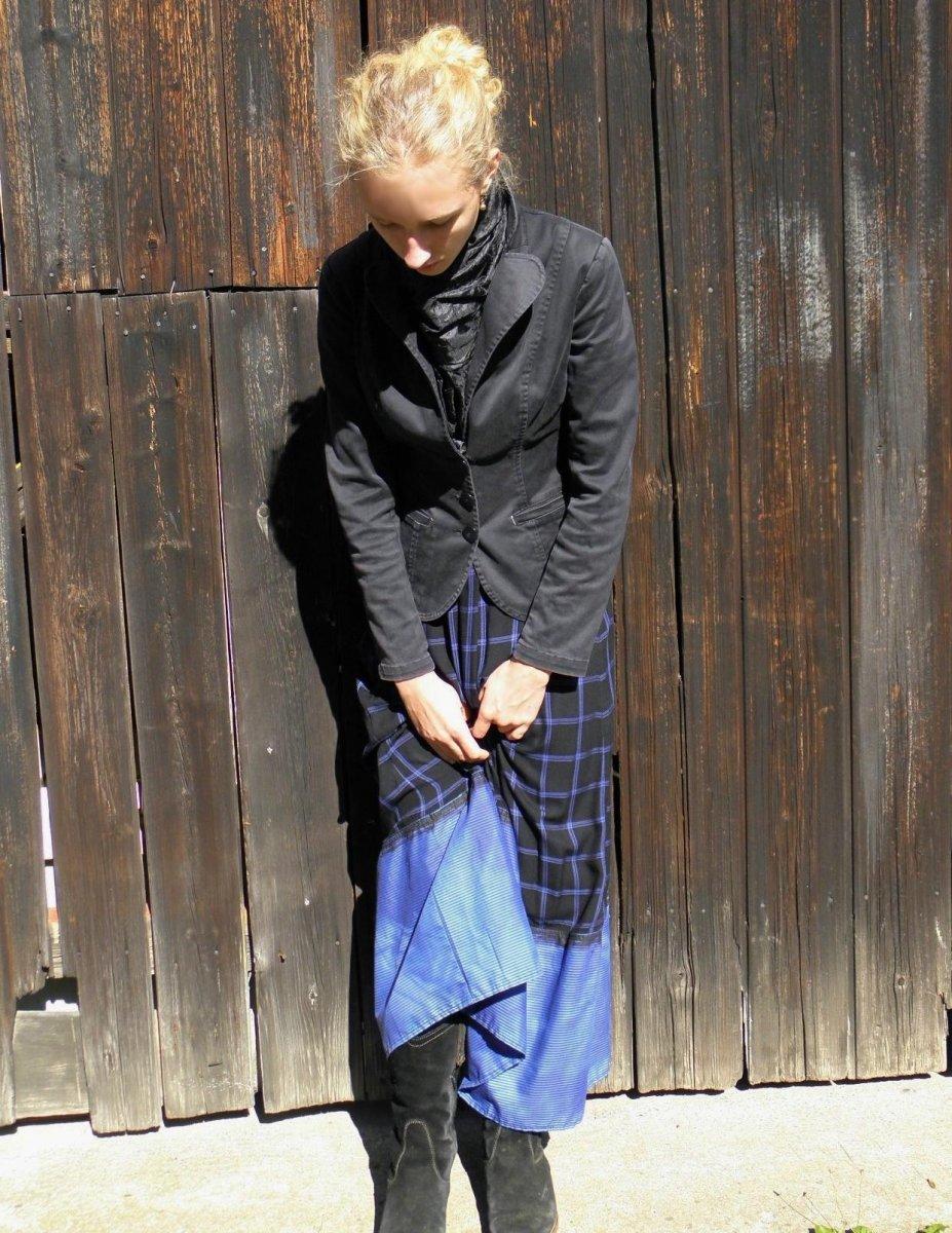 158dfaffbff0 Maxi sukně v modrém S-XL – Potvor - pomáhat tvořit