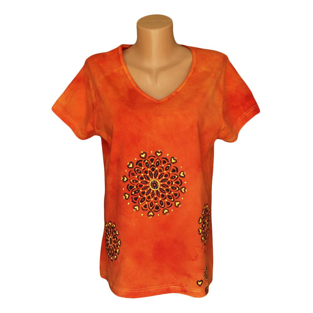 9024d3c034b1 Dámské batikované tričko – Potvor - pomáhat tvořit