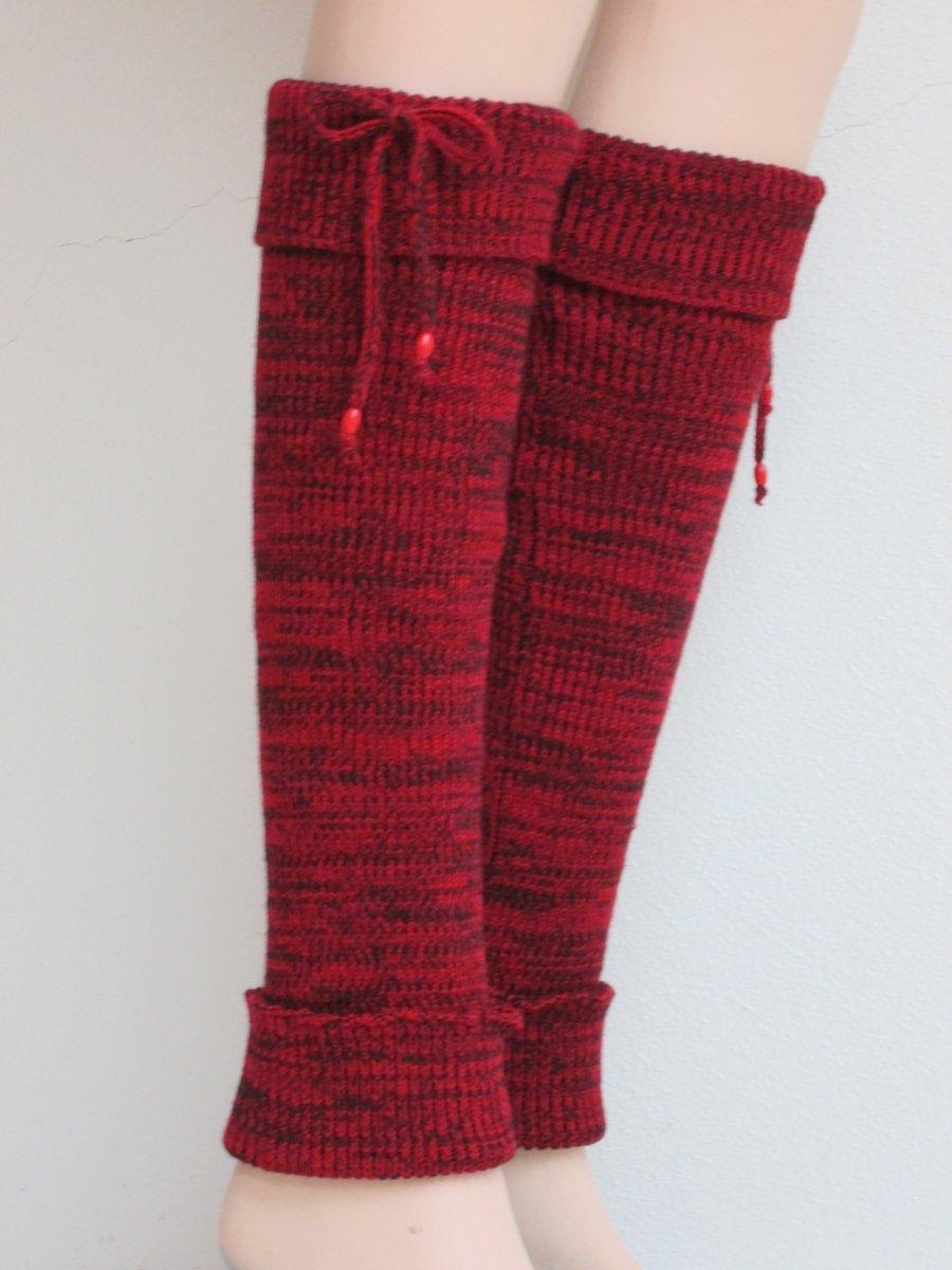 Návleky na nohy - červenočerné – Potvor - pomáhat tvořit 9ce77c0808