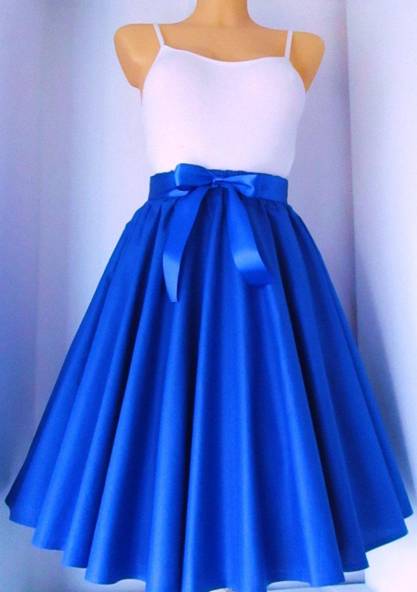 0cd2e4e96006 Sukně královsky modrá – Potvor - pomáhat tvořit