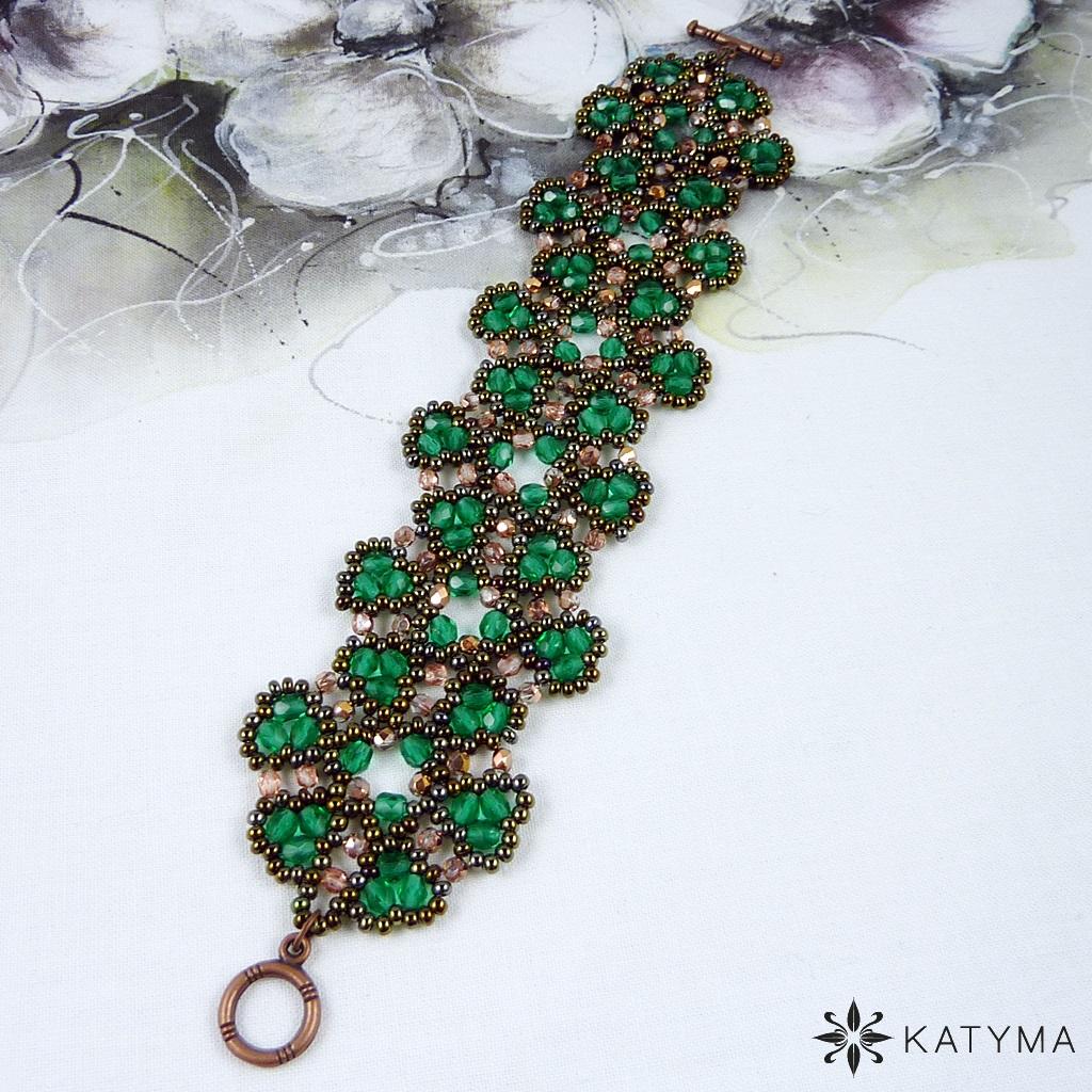 92f06f584 Náramek Krajka smaragdově zelená – Potvor - pomáhat tvořit