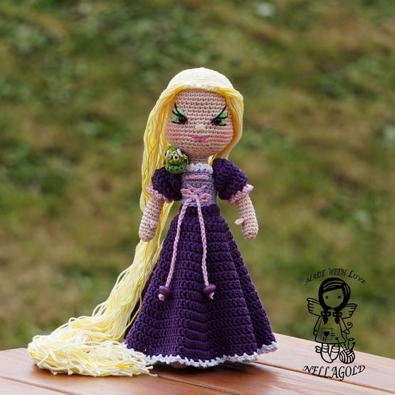 d84247395cf Háčkovaná princezna Locika - návod 125 – Potvor - pomáhat tvořit