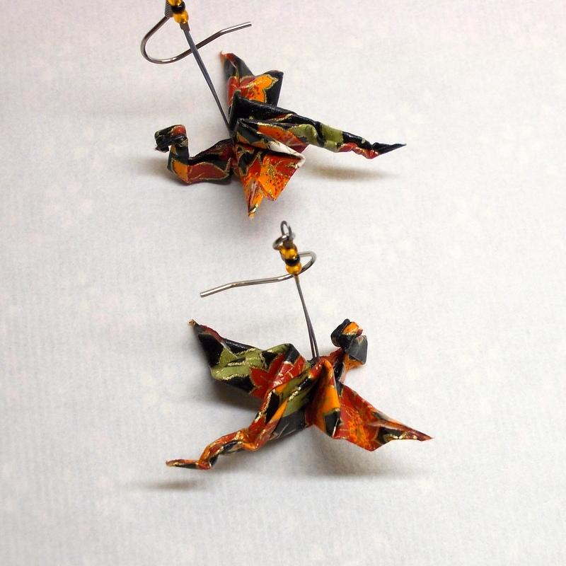 Kanadský drak - Origami náušnice – Potvor - pomáhat tvořit c7d022fc662
