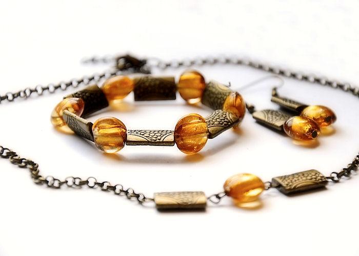 7bded3e8fc Zlato s medem - náhrdelník