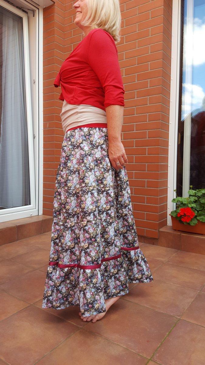 8e0a8f47267 dlouhá - romantická - volánová sukně – Potvor - pomáhat tvořit
