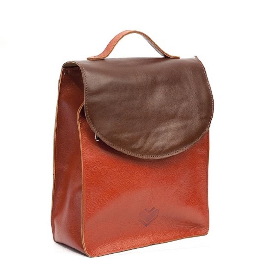 Kožený batoh - hnědorezavý – Potvor - pomáhat tvořit beaf32c44d