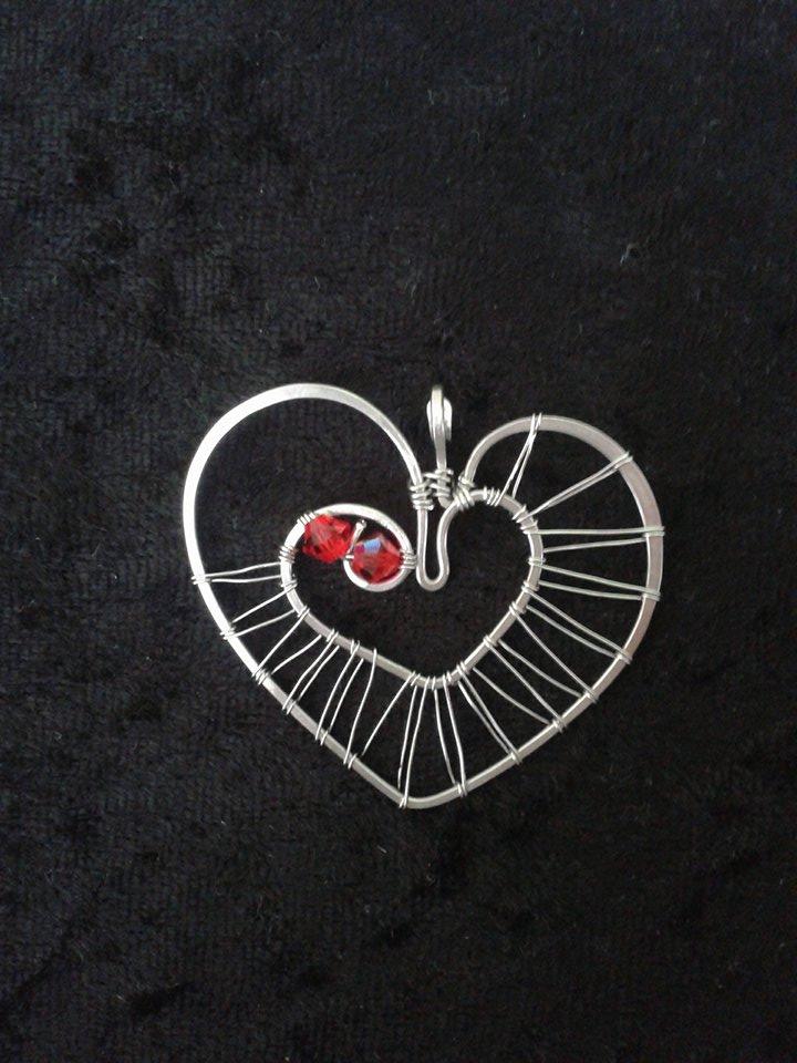 Srdce z lásky -Swarovski - chirurgická ocel – Potvor - pomáhat tvořit 4f74abd23b