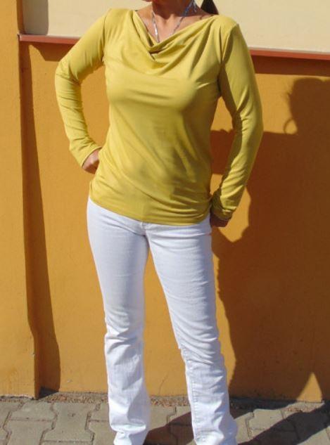 ed7af8ce458 Tričko s vodou - barva hořčicová S - XXXL – Potvor - pomáhat tvořit