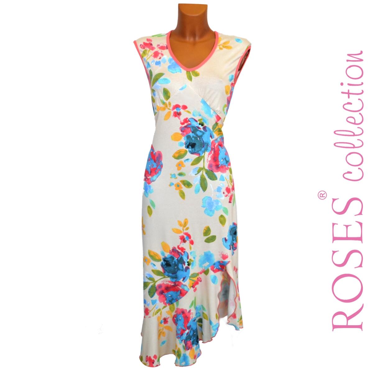 Letní šaty ANNE béžové – Potvor - pomáhat tvořit 97f63ee899