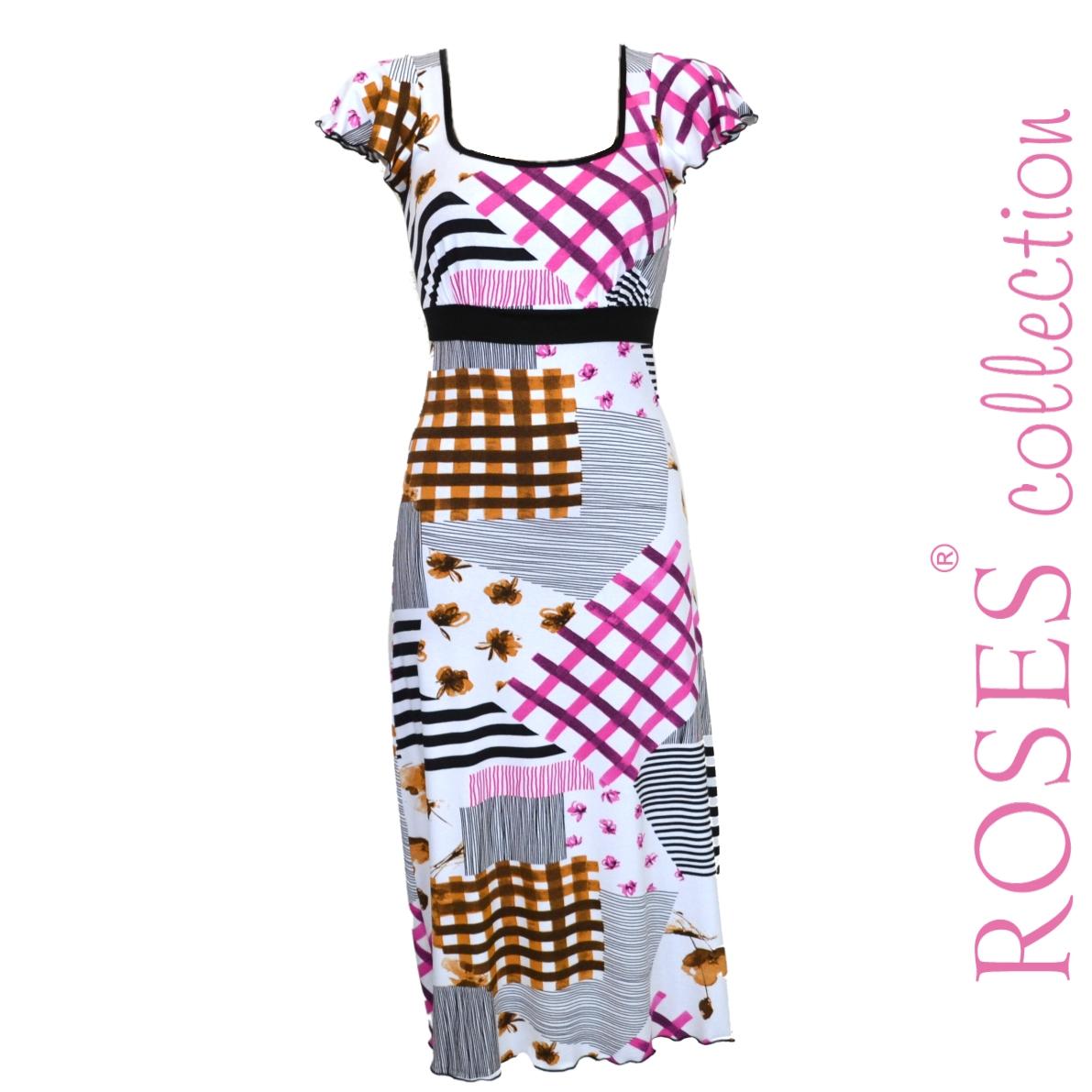 Letní šaty EVELINE barevné – Potvor - pomáhat tvořit 0c88f445c0