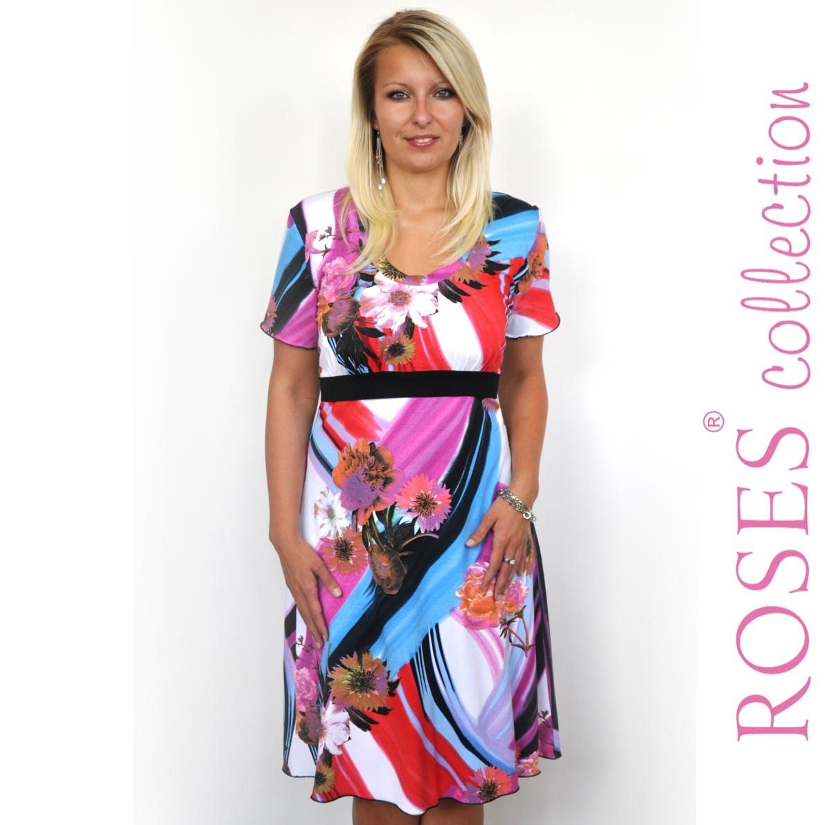 Letní šaty ISABELLA barevné – Potvor - pomáhat tvořit 4a792ec1d9