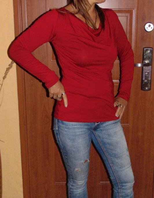 Tričko s vodou - tmavě červená S - XXXL – Potvor - pomáhat tvořit 670cb45afc