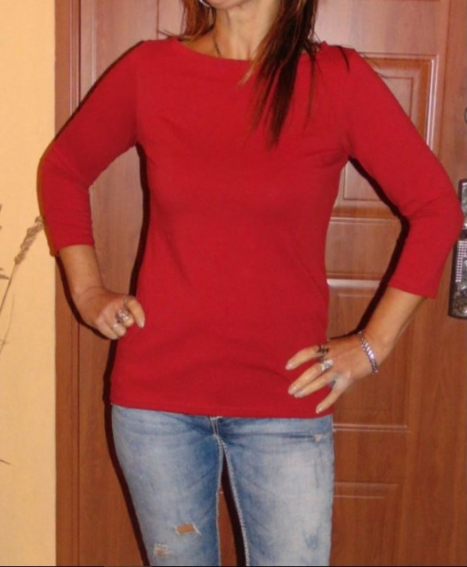Tričko 3 4 rukáv - barva tm. červená XS - XXXL – Potvor - pomáhat tvořit 99fcb24682