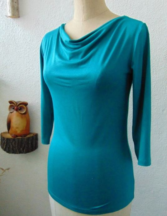 d318f857b96 Tričko s vodou - barva smaragdová S - XXXL – Potvor - pomáhat tvořit