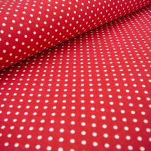 Bavlněná látka - metráž - bílý malý puntíček na červené - š. 150 cm 333b5234a6c