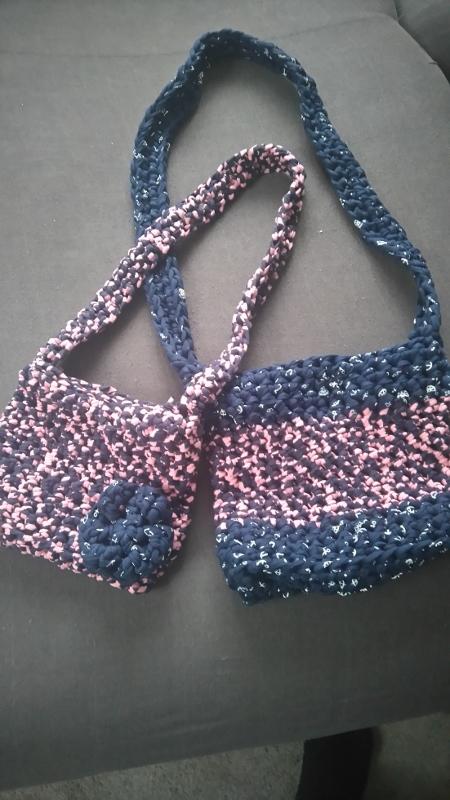 Háčkované kabelky pro maminku a její malou princeznu – Potvor ... 1bfc94765c