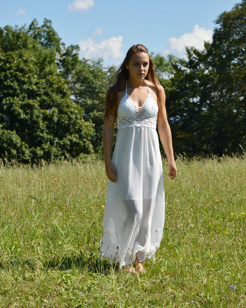 Letní háčkované šaty FAIRY – Potvor - pomáhat tvořit 79f9b2859a