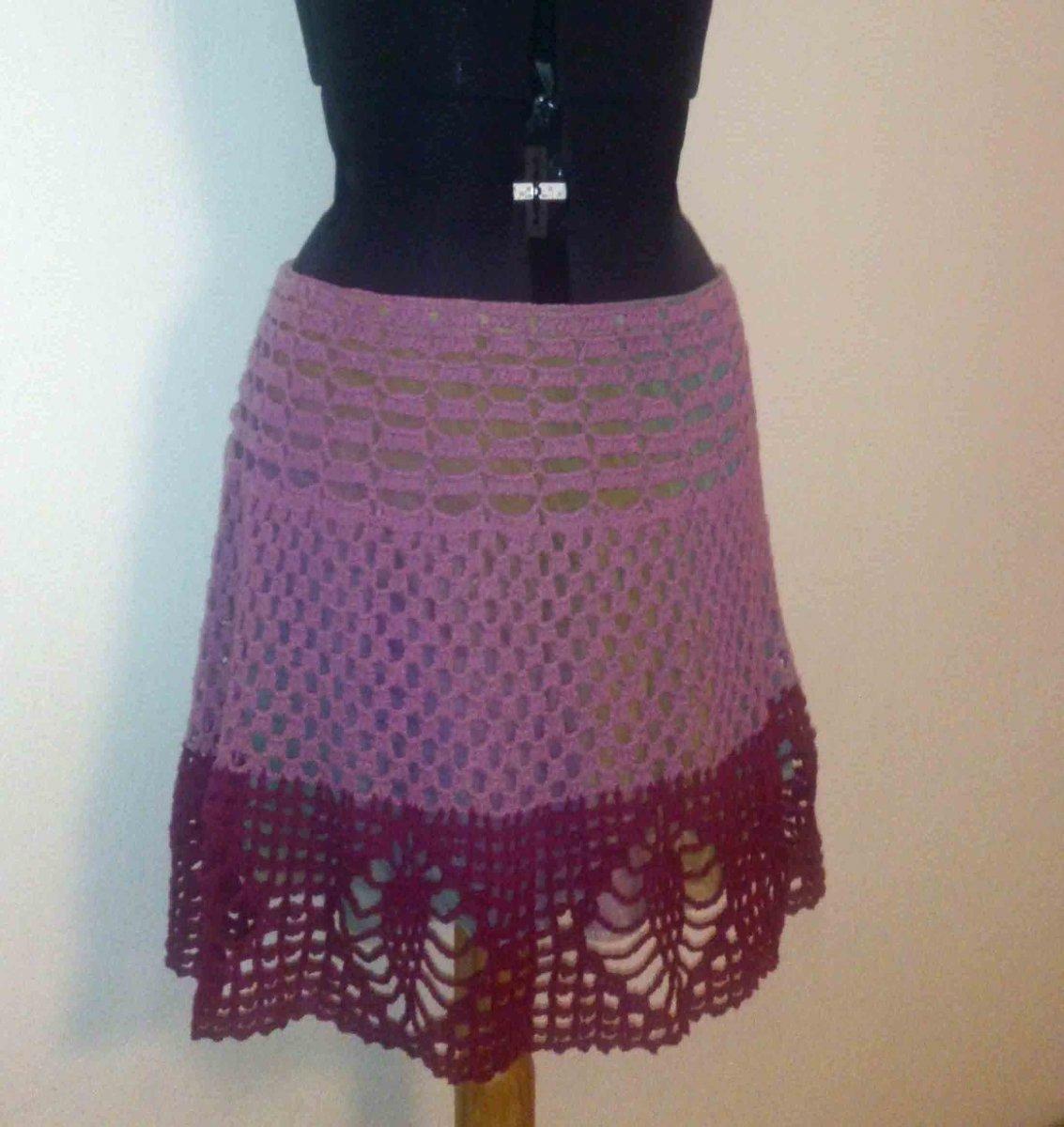 SLEVA Dámská háčkovaná sukně d9ebd1354d