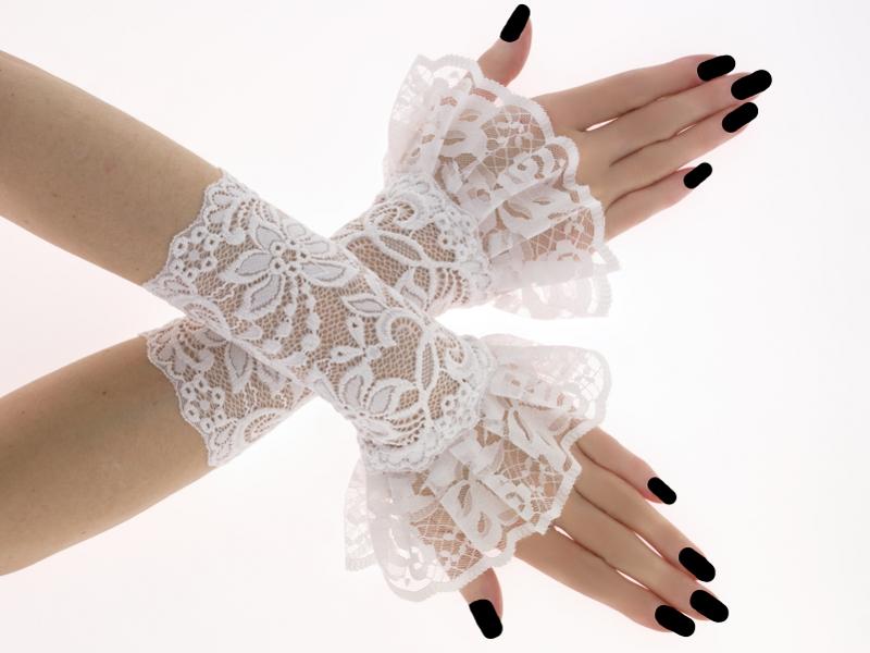 b238f6cc5be Bílé dámské společenské krajkové rukavice 0R4 – Potvor - pomáhat tvořit