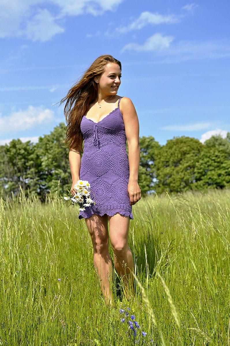 Letní háčkované šaty – Potvor - pomáhat tvořit 02b0634448