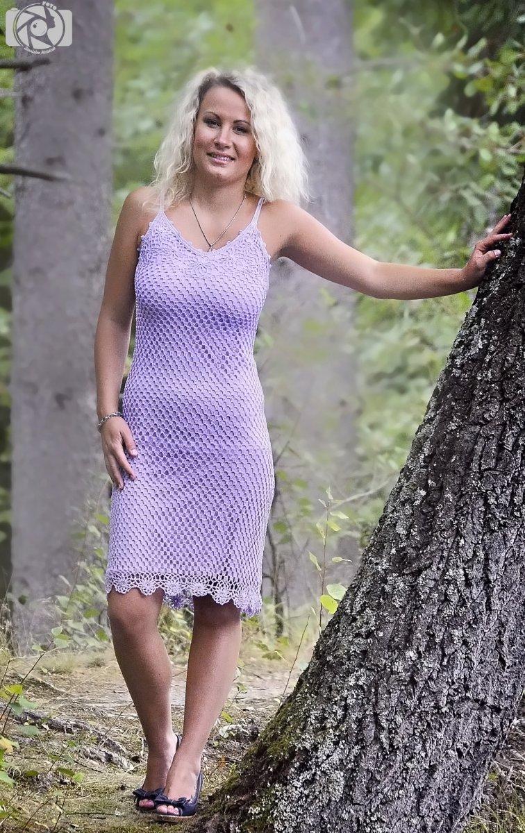 Háčkované šaty LILAC – Potvor - pomáhat tvořit fd45420e7d