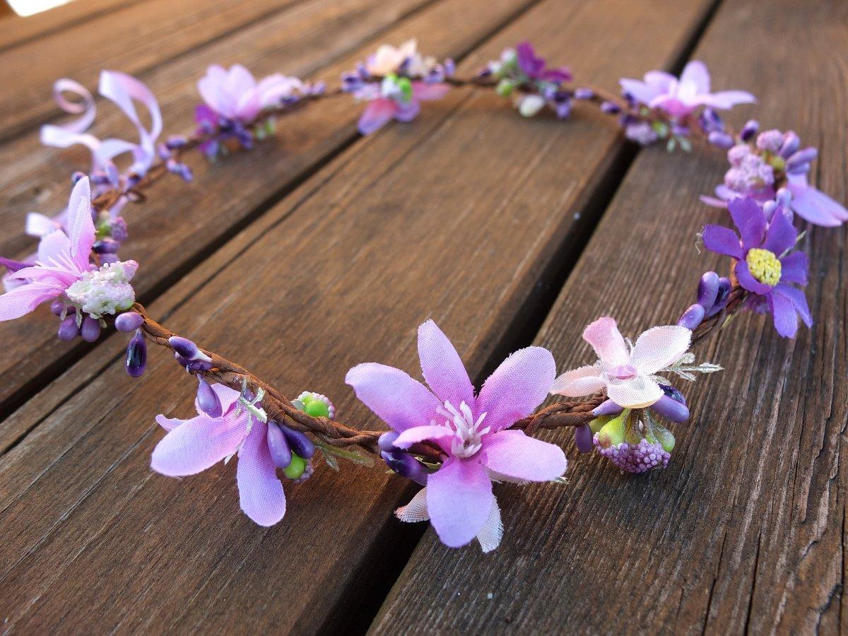 fialový věneček pro luční víly – Potvor - pomáhat tvořit f369ce6e11