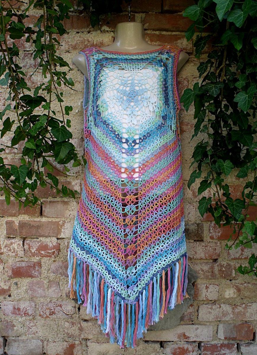 Háčkované letní šaty na objednávku – Potvor - pomáhat tvořit 746225095a