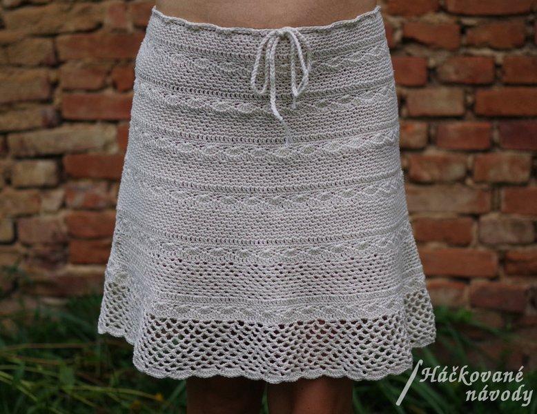 NÁVOD - Háčkovaná dámská sukně – Potvor - pomáhat tvořit 05c6356997