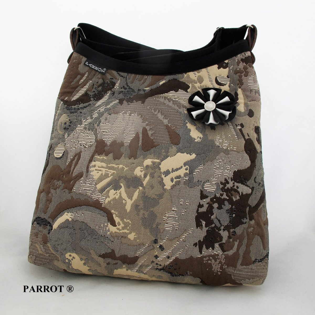 ABSTRACT STONE BAG * BROWN * PARROT®