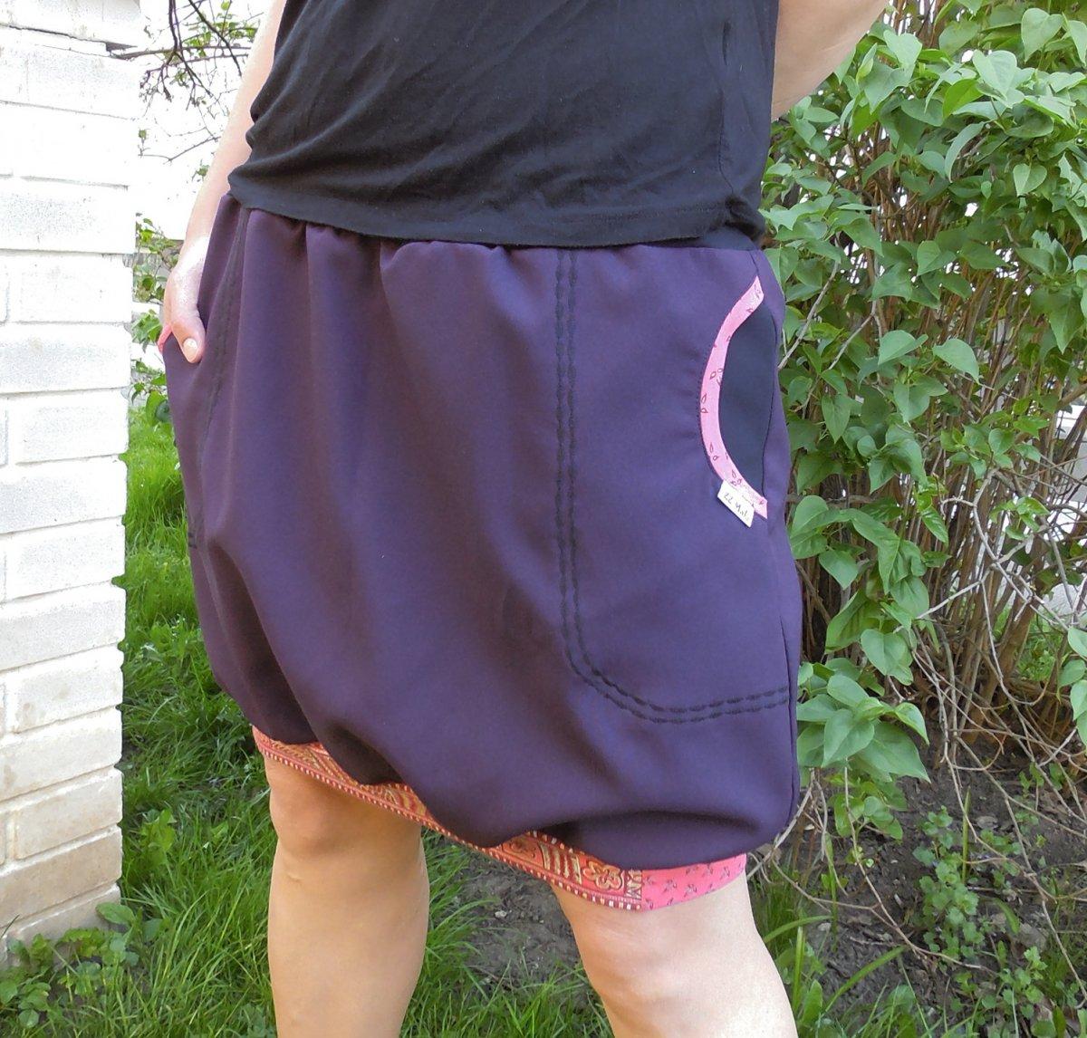 sukně balonová fialová+ornamenty – Potvor - pomáhat tvořit 68e054bc34