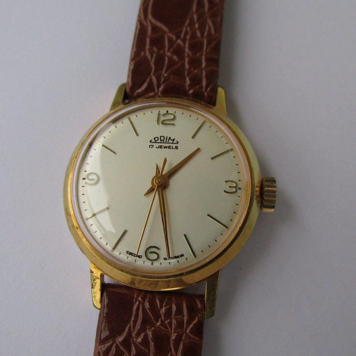 5104ad69d Hodinky Prim, zlacené pouzdro, dámské, z roku 1967 – Potvor ...