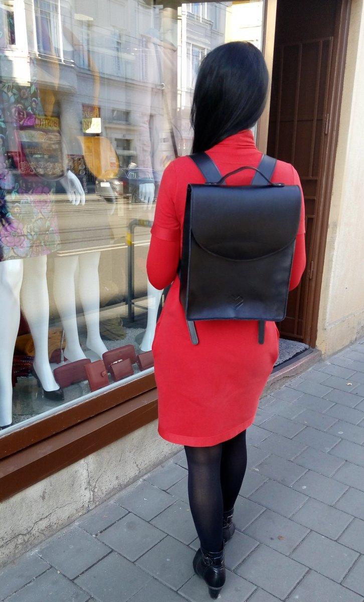 Kožený batoh - černý – Potvor - pomáhat tvořit 9825fdd409