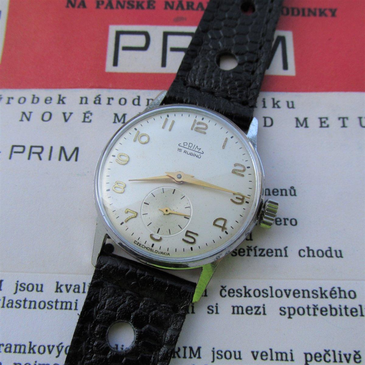 941252d03 Hodinky Prim, z roku 1960, mechanické,retro,unisex – Potvor ...