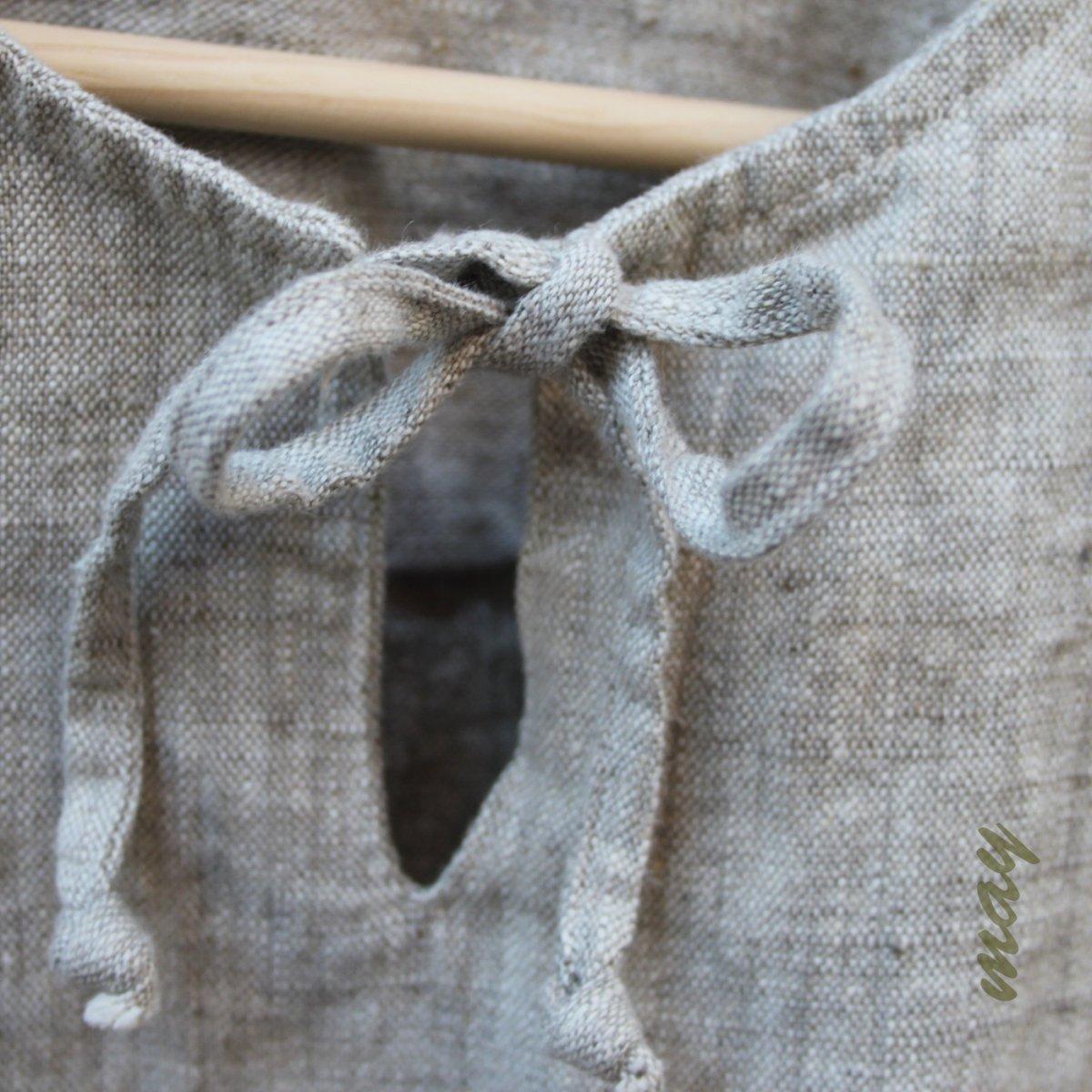 Lněná košile s vázačkou – Potvor - pomáhat tvořit 43de27d71a