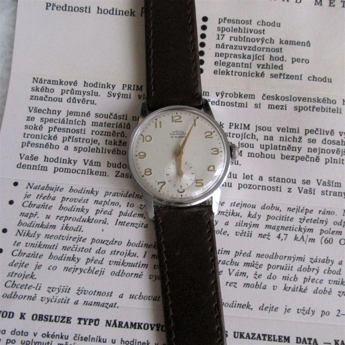 cc787c9f3 Hodinky Prim, z roku 1960, mechanické,retro,unisex – Potvor ...