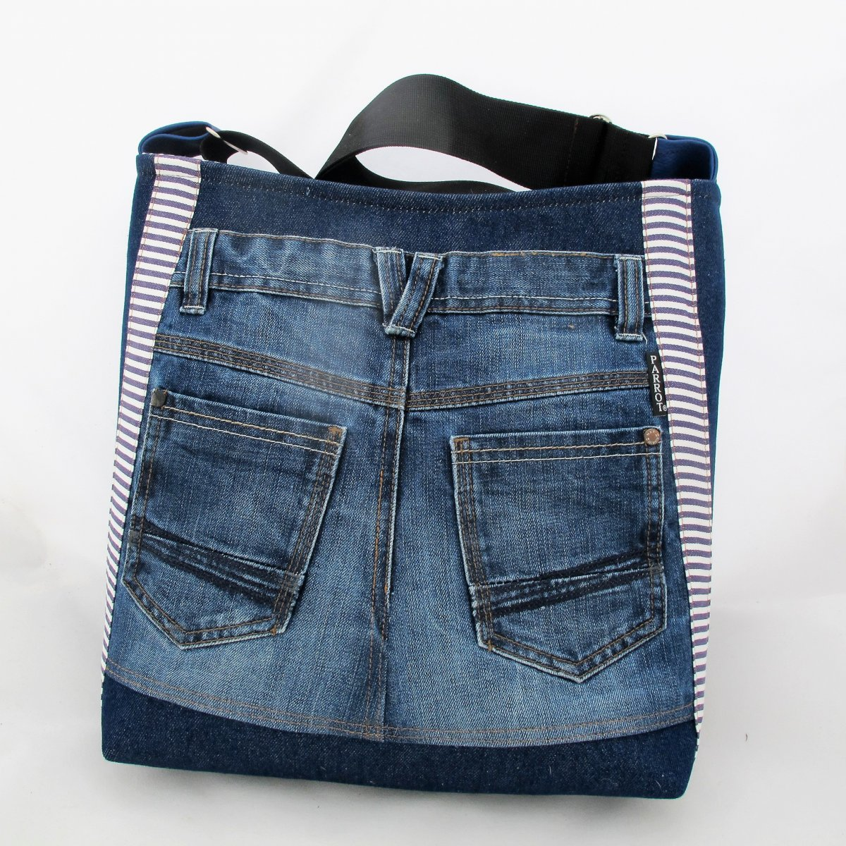 BIG POCKET, STRIPED JEANS * PARROT®