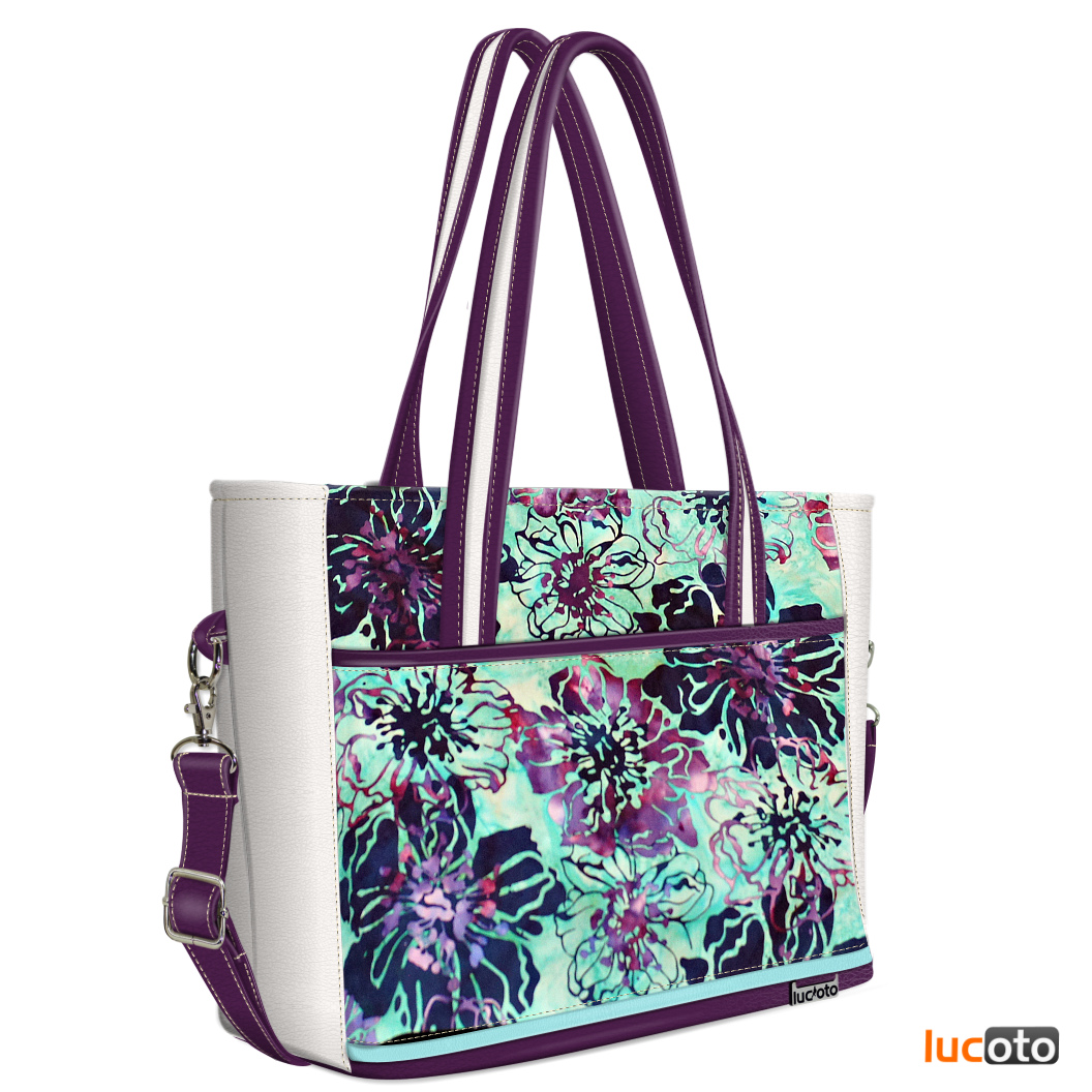 Joli One Batik white , violet and turquoise