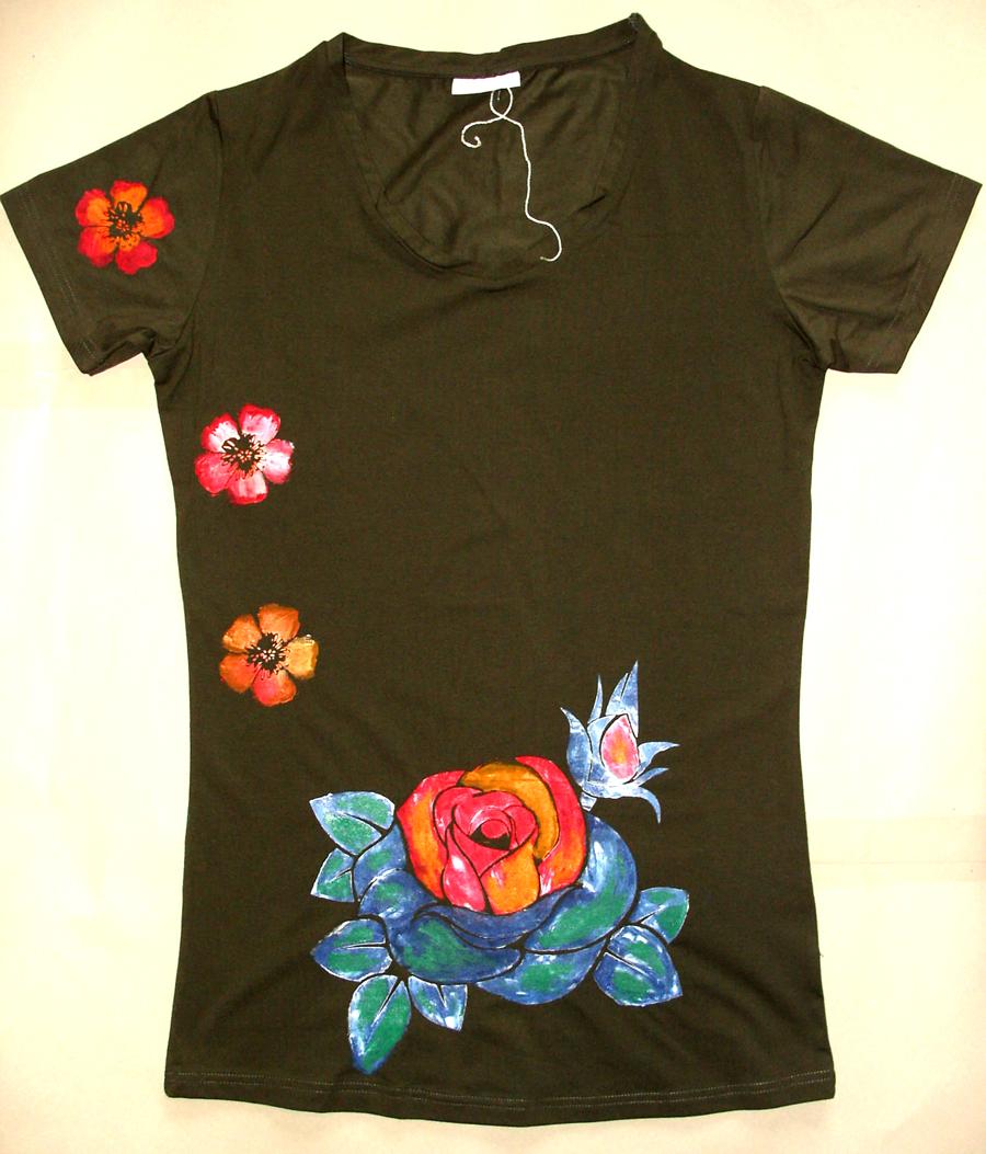 Dámské tričko čtyři květiny – Potvor - pomáhat tvořit edaec5c640