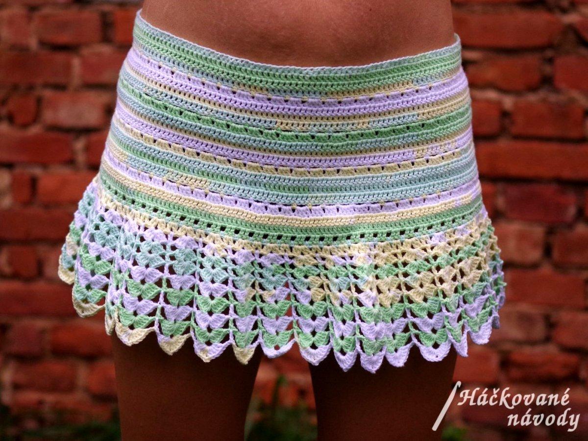 Háčkovaná letní plážová sukně – Potvor - pomáhat tvořit 37fabb7ec5