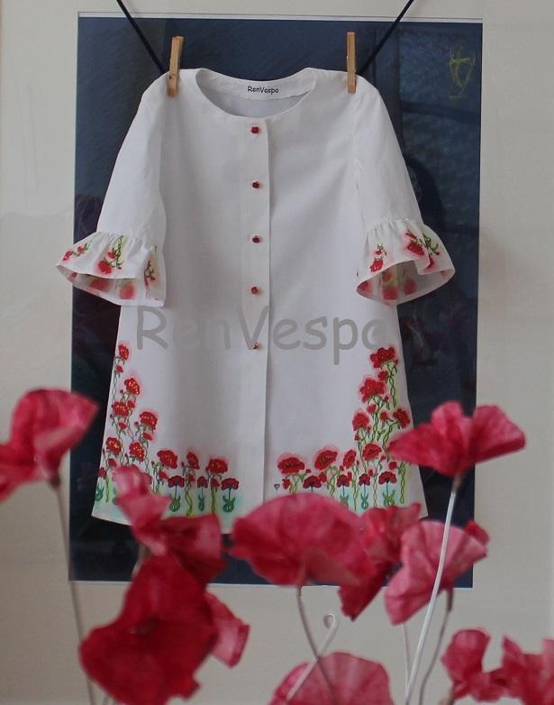Dětské šaty ručně malované vel.98 – Potvor - pomáhat tvořit 279150dc66