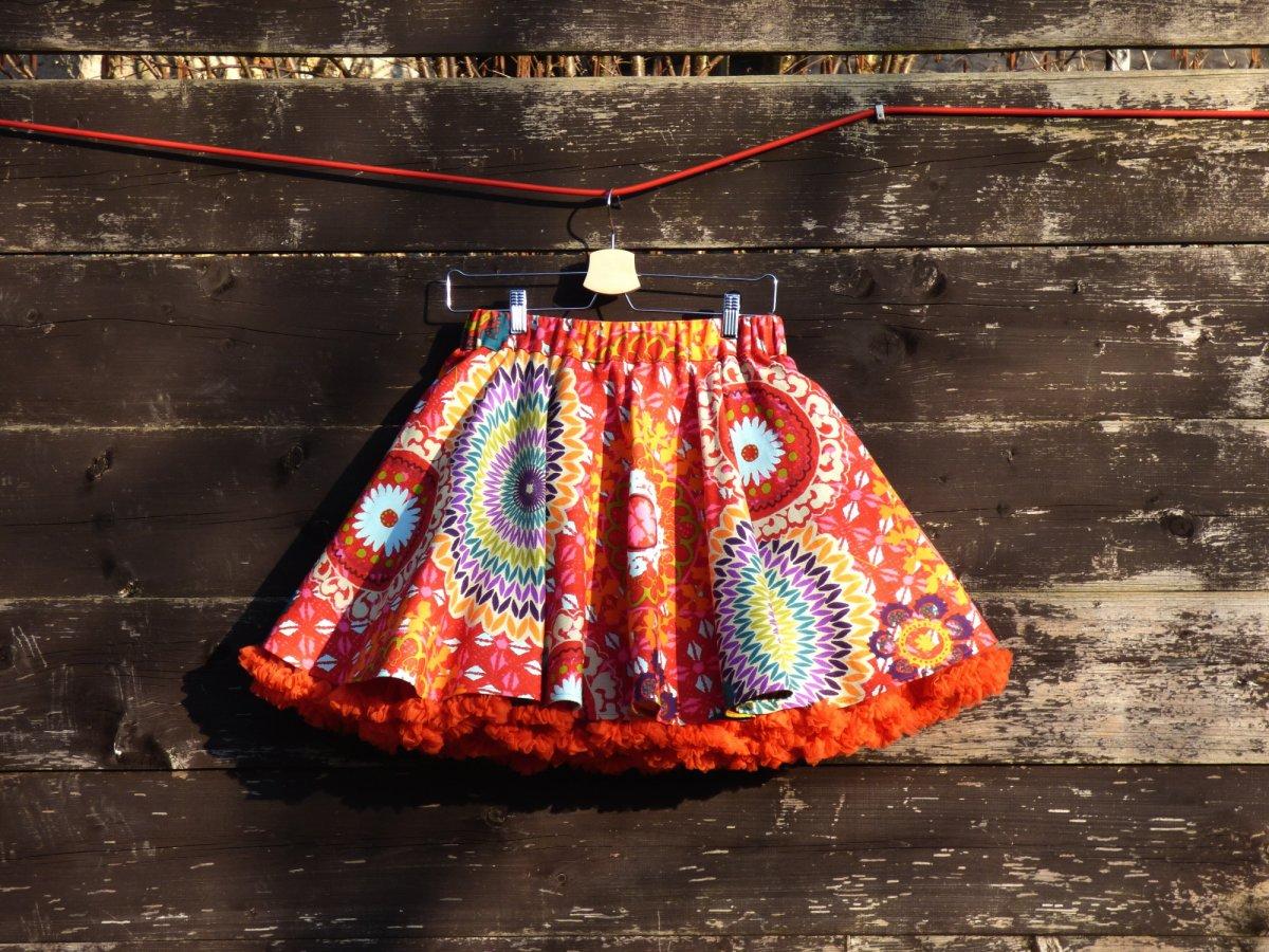 6c1a8a2d988 FuFu sukně mandala červená s oranžovou spodničkou – Potvor - pomáhat ...