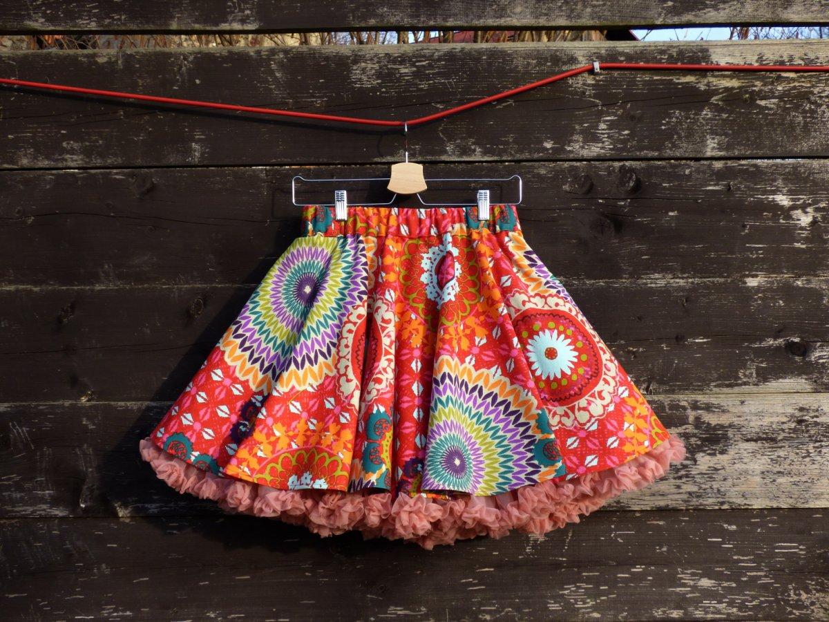 56c1cc49069 FuFu sukně mandala červená s lososovou spodničkou – Potvor - pomáhat ...