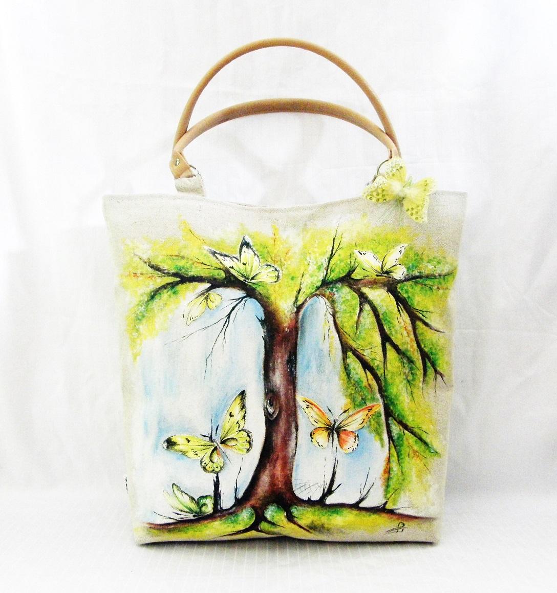 ručně malovaná taška – Potvor - pomáhat tvořit f52fb4562c