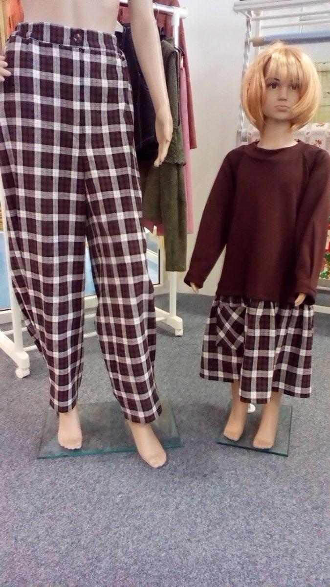 3bf2710d2d0 Kostkované kalhoty – Potvor - pomáhat tvořit