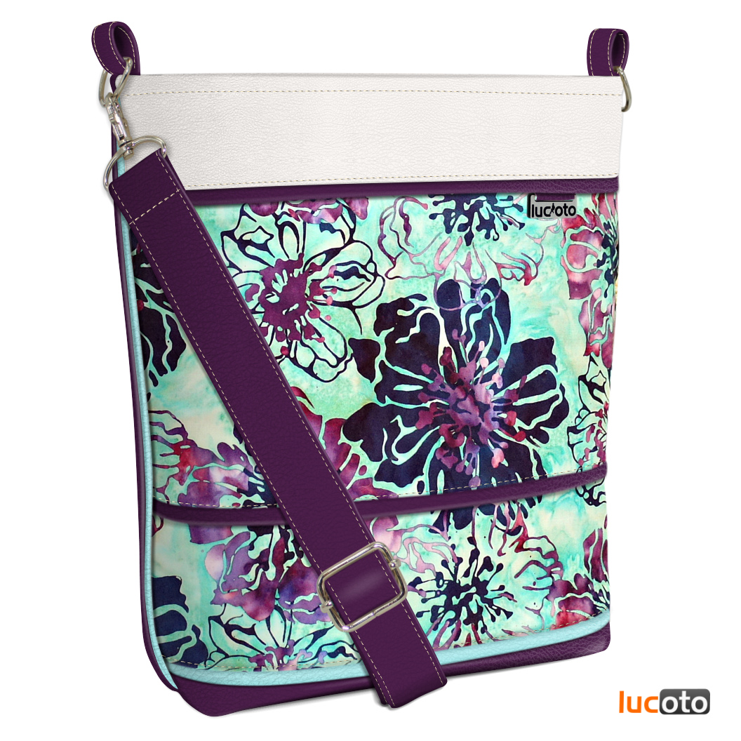 Sandra One Batik white , violet and turquoise